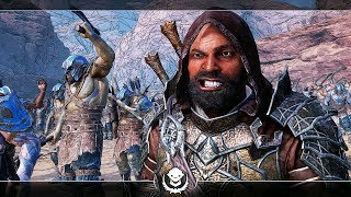 Shadow of War Unique Bone-Shaker Overlord Marksman Difficulty Nemesis In Desert