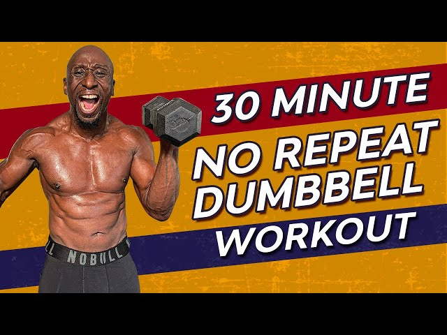 30 Min FULL BODY DUMBBELL HIIT WORKOUT at Home| No Repeat | Muscle - Fat Loss