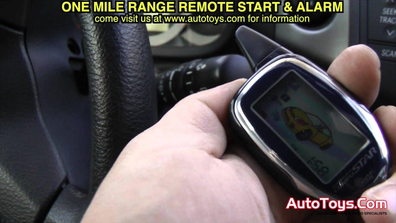Toyota RAV4 ALARM REMOTE START by Compustar AutoToys com YouTube