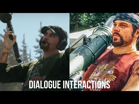 Far Cry 5 - Hurk & Sharky dialogue interactions