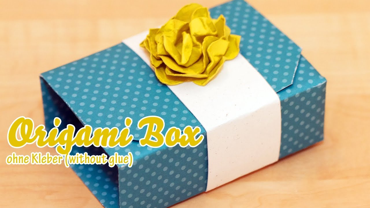 Papercraft Tutorial - Origami Box in a Box - English Subtitles / Deutsche Untertitel