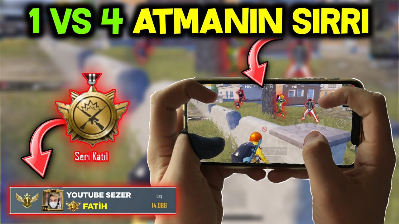 NASIL 1 vs 4 ATILIR ? | PRO TAKTİKLER! | iPhone 11 Pro Max HANDCAM GAMEPLAY | PUBG Mobile SEZER