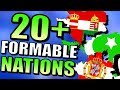 20+ Formable Nations [AI ONLY] | Hearts of Iron 4 - HOI4