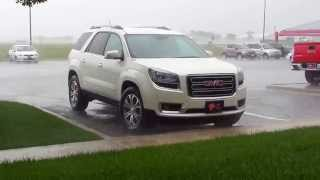 Rain in Canyon Texas and the GMC Acadia
