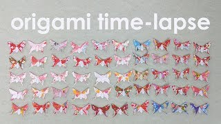 Origami Time-Lapse: Folding 50 Alexander Swallowtail Butterflies (Michael LaFosse)