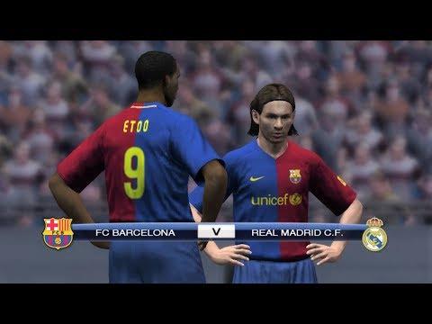 Pro Evolution Soccer 2009 - FC Barcelona Vs Real Madrid Gameplay (720p60fps)
