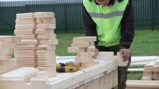 Обзор технологии строительства домов из мини-бруса на примере дома