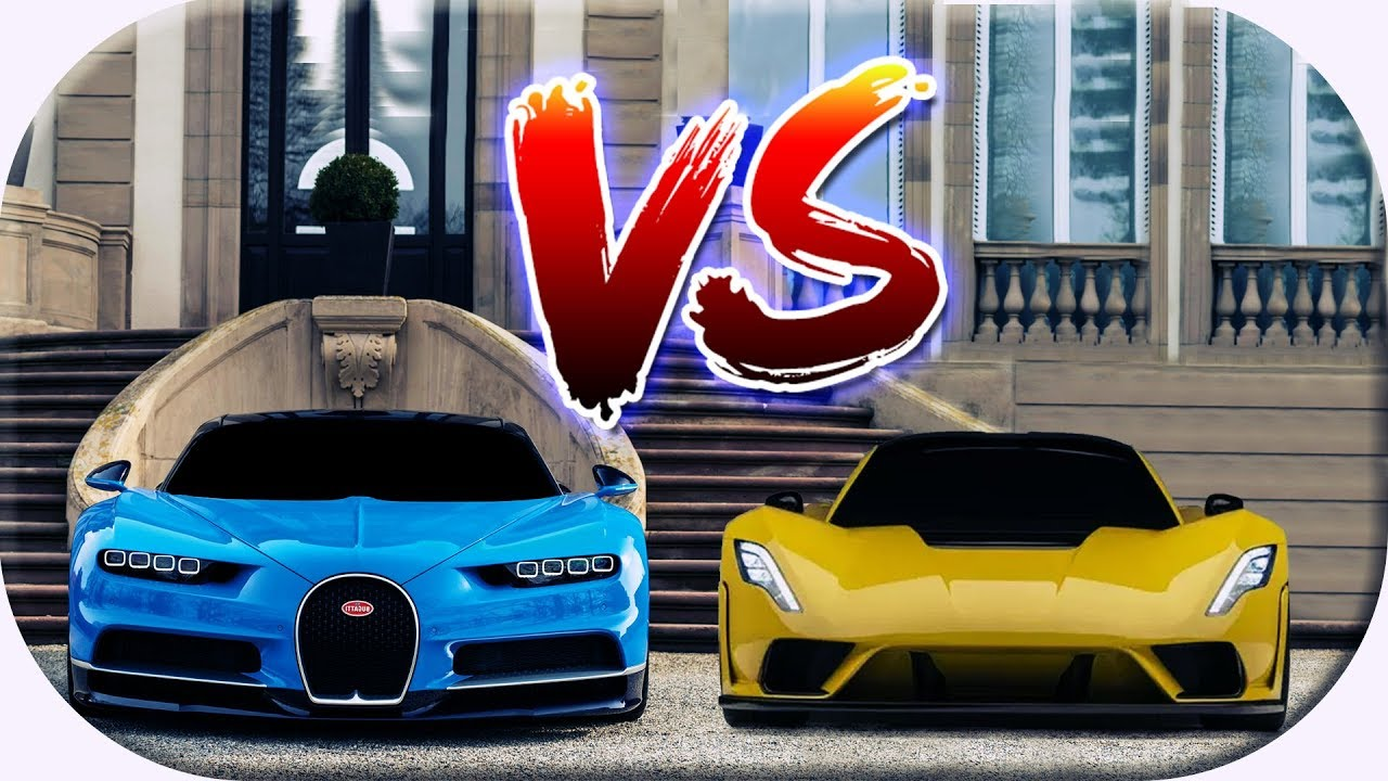 Hennessey Venom F5 Vs Bugatti Chiron Movie Fastest Cars