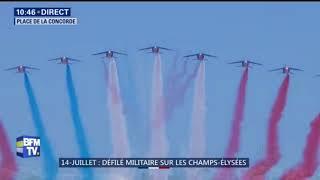14 Juillet la Patrouille de France ouvre le défilé aérien    avec un petit souci de couleur