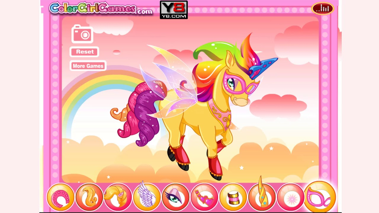 A series of games about the rainbow unicorn
