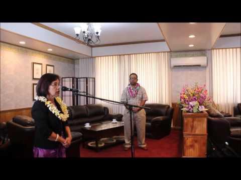 Arrival of RMI President Dr Hilda C Heine from NY APRIL 26 MAJURO MARSHALL ISLANDS