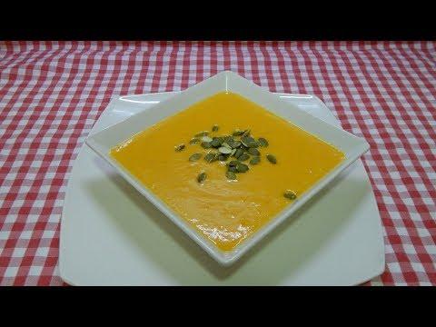 Cómo preparar una deliciosa y sana crema de calabaza y zanahoria