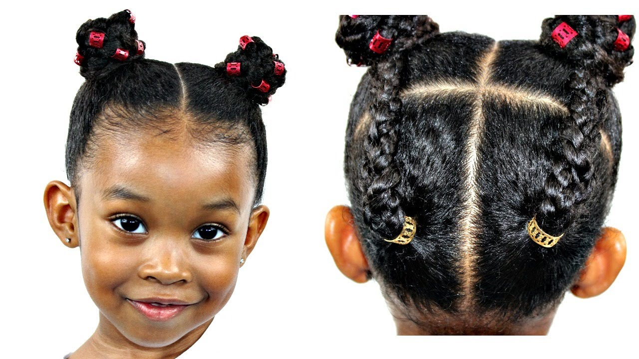 hair tutorial for little girls | natural hairstyles
