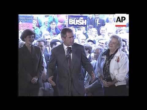 Governor George W. Bush campaigns in New Hampshire for the Republican Presidential Nomination