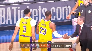 LeBron James passes Kobe Bryant on the NBA all time scoring list   Lakers vs Sixers
