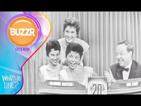 What's My Line 1955 with the McGuire Sisters as Mystery Guest | Buzzr