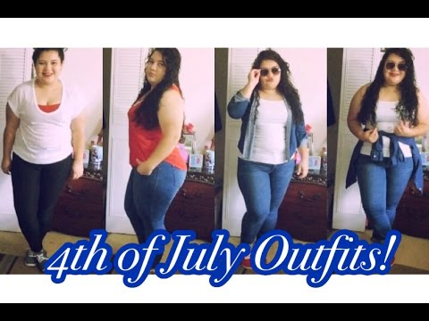 4th of july outfits ideas | plus size - para gorditas ! - youtube
