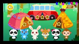 Chuyến Du Lịch Mùa Xuân Của Gấu Trúc Nhỏ - Ăn Bánh Ngọt, Dựng Lều Trại, Nhóm Lửa- BaByBus Kids Game