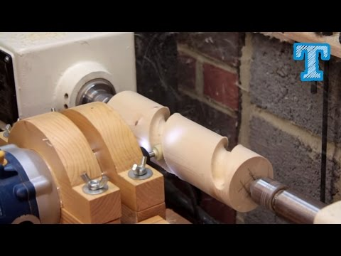 Cutting Wooden Spirals on the Lathe: Homemade Router Jig