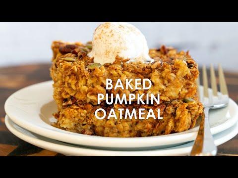 PUMPKIN BAKED OATMEAL Gluten-free No Oil   Vegan Richa Recipes