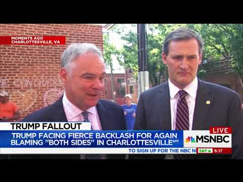 Kaine on Trump's Lack of Moral Leadership in Wake of White Supremacist Violence
