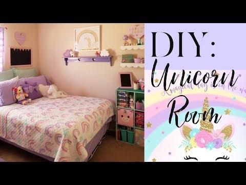 Girls Unicorn Room Makeover