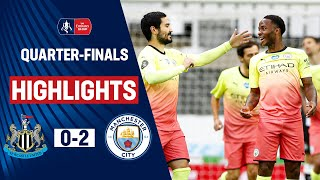 De Bruyne and Sterling Both on Target | Newcastle 0-2 Manchester City | Emirates FA Cup 19/20
