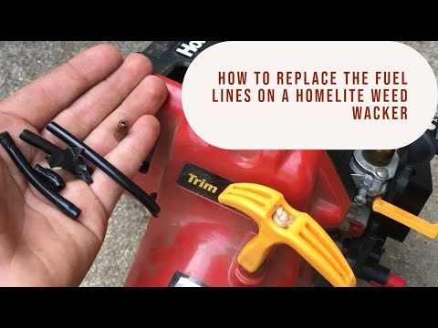 How To Replace The Fuel Line On A Homelite Trimmer