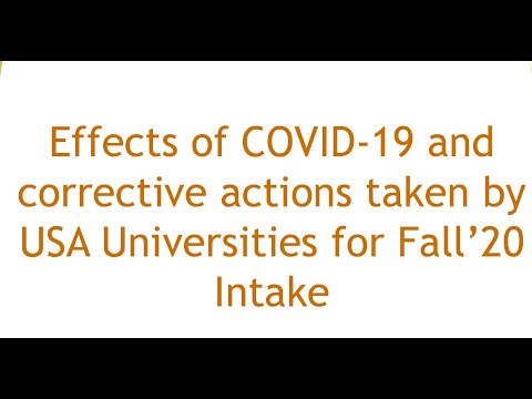 Corona Virus COVID-19 : Study In USA : Education Strategies For Indian Students