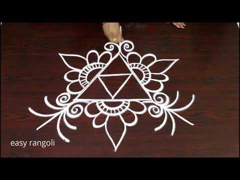 freehand kolam designs for beginners - easy rangoli designs - simple muggulu