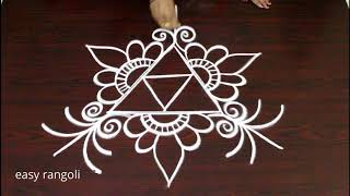 freehand kolam designs for beginners - easy rangoli designs - simple muggulu