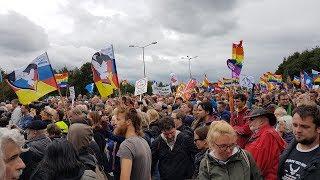 Демонстрация против военной базы США в Германии Рамштайн  2017 [Голос Германии]