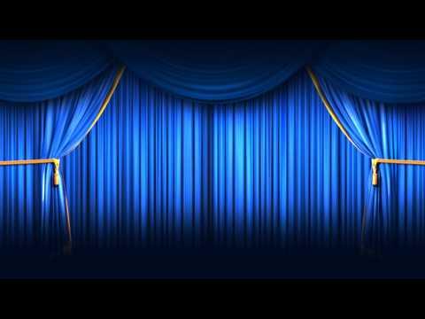 Background Full HD Blue Closing Curtain