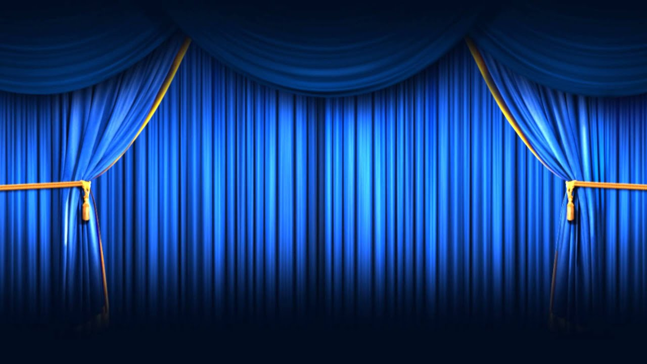 Background Full HD Blue Closing Curtain
