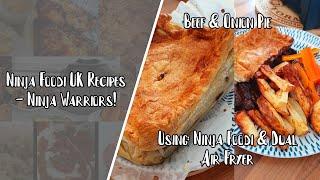 Ninja Foodi UK Recipes  Beef and Onion Pie in the Foodi and Duo