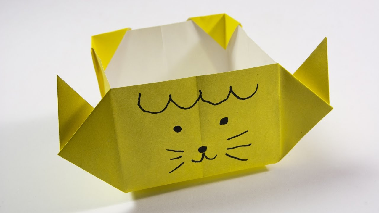 How To Make A Paper Box Origami Cat