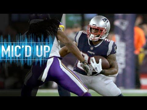 "James White Mic'd Up vs. Vikings ""I saw my life flash before my eyes"" | NFL Films"