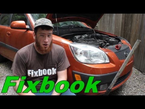 """Power Steering Belt Replacement """"How to"""" Kia Rio"""