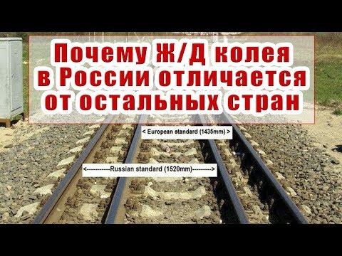 ШИРИНА ЖЕЛЕЗНОДОРОЖНОЙ КОЛЕИ В РОССИИ И ДРУГИХ СТРАНАХ.  ИСТОРИЯ ЖЕЛЕЗНЫХ ДОРОГ #1