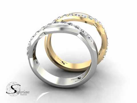 Diamond Promise Ring With a Cross Over Feature 15 Diamonds in The Band
