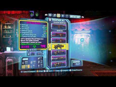 Borderlands 2 Moxxi Secret Rare Gun - Guileless Bad Touch