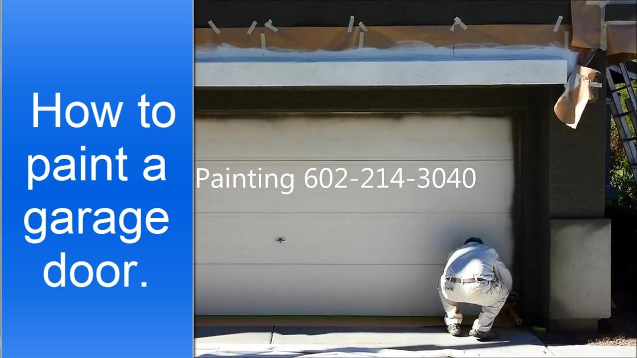 how to paint a garage door - How To Paint A Garage Door