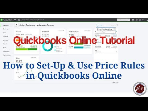 Quickbooks Online Tutorial - How to Set-Up & Use Price Rules