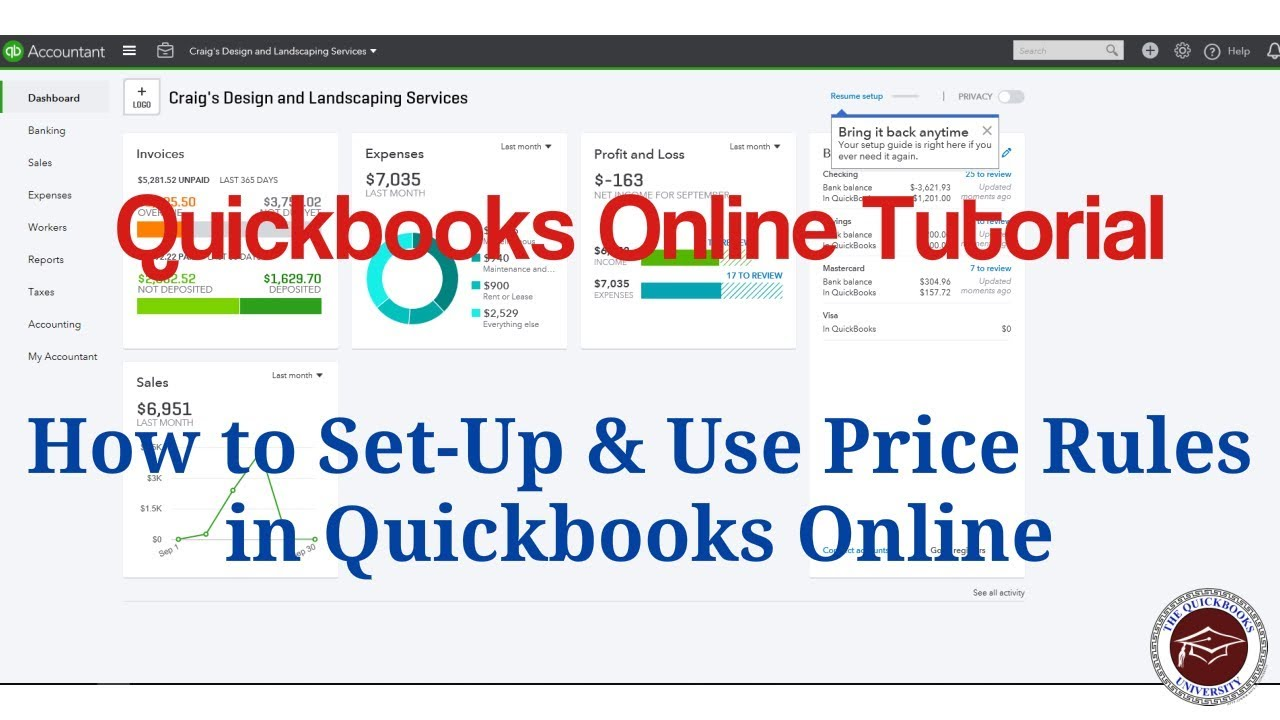 Quickbooks Online Tutorial - How to Set-Up & Use Price Rules in Quickbooks  Online
