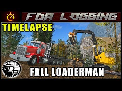 Fall Log Loading | Farming Simulator 2017 | Timelapse Logging thumbnail