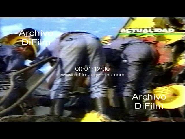 Choque de trenes en Jose C. Paz - Trabajos bomberos voluntarios 1990