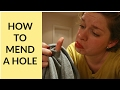 How to Mend A Hole Without a Machine - Beginner Sewing Tutorial 5
