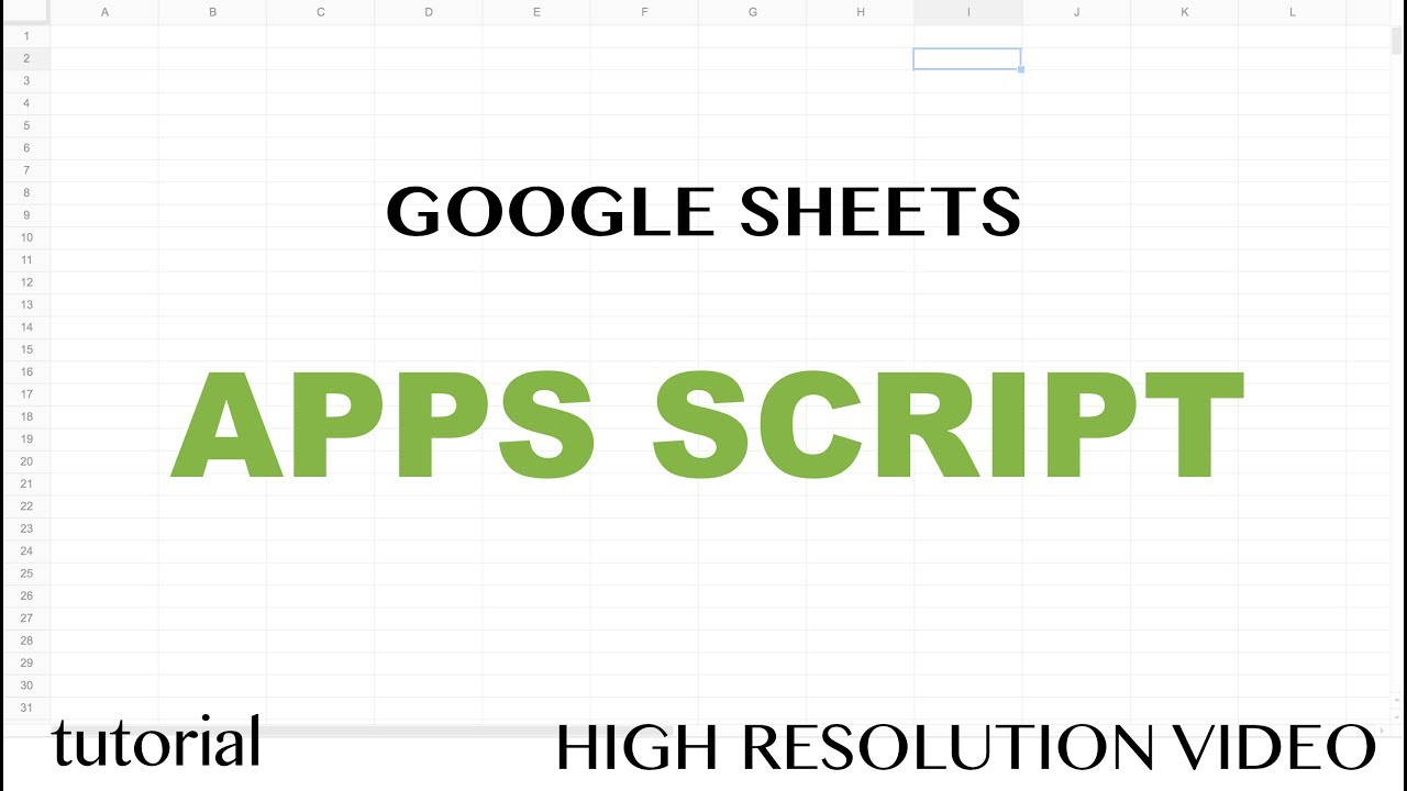 Google Sheets Apps Script - Read Range to a JavaScript Array & Write to a  Range Tutorial - Part 7
