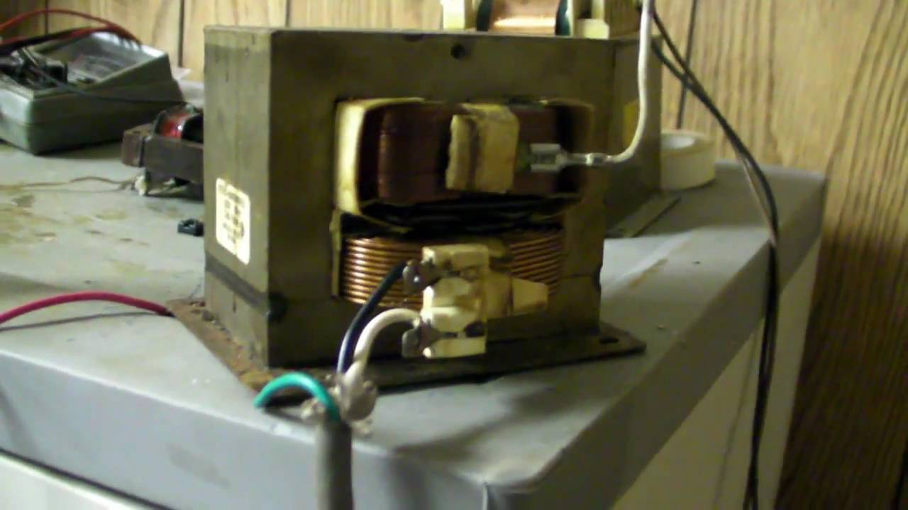 Microwave Transformer Heating Test Youtube