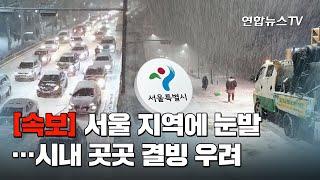 [속보] 서울 지역에 눈발…시내 곳곳 결빙 우려 / 연합뉴스TV (YonhapnewsTV)